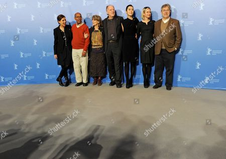 Stock Picture of Italian Director Francesca Comencini (l-r) Somali Novelist Nuruddin Farah German Actress Cornelia Froboess German Director and Jury President Werner Herzog Chinese Actress Yu Nan Us Actress Renee Zellweger and Spanish Producer Jose Maria Morales Attend a Photocall of the Berlinale Jury on the Occasion of the 60th Berlinale International Film Festival in Berlin Germany 11 February 2010 the Festival Runs From 11 to 21 February Germany Berlin