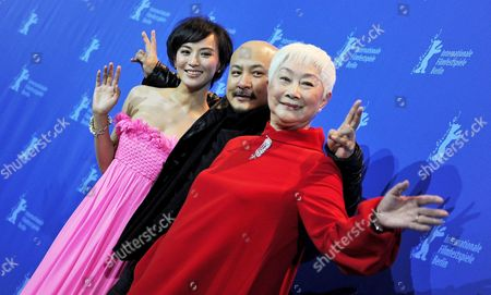 Stock Picture of Chinese Actress Monica Mo (l-r) Chinese Director Wang Quan'an and Chinese Actress Lisa Lu Attend the Photocall For Their Movie 'Tuan Yuan' ('alone Together') Which Will Open the 60th Berlinale International Film Festival in Berlin Germany 11 February 2010 the Festival Runs Until 21 February Germany Berlin