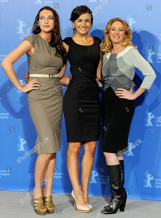 Us Actresses Anna Anissimova (l-r) Camilla Belle and Virginia Madsen Attend the Photocall For the Film 'Father of Invention' During the 60th Berlin International Film Festival in Berlin Germany 15 February 2010 the Movie by Director Trent Cooper is Presented in the Panorama Special Competition at the Festival Running Until 21 Febuary Germany Berlin