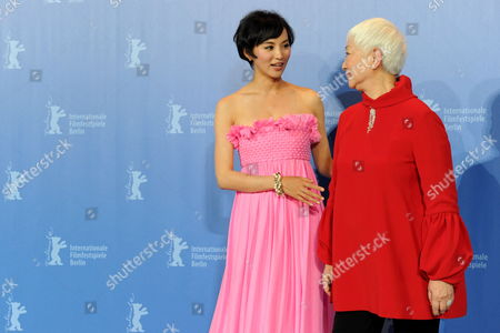 Chinese Actresses Monica Mo (l) and Lisa Lu Attend the Photocall For Their Movie 'Tuan Yuan' ('alone Together') Which Will Open the 60th Berlinale International Film Festival in Berlin Germany 11 February 2010 the Festival Runs Until 21 February Germany Berlin