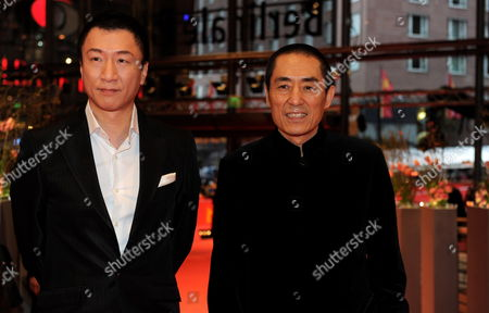 (l-r) Chinese Actor Sun Honglei and Director Zhang Yimou Arrive at the Premiere of the Film 'A Woman a Gun and a Noodle Shop' (san Qiang Pai an Jing Qi) at the 60th Berlin International Film Festival in Berlin Germany 14 February 2010 the Movie is Presented in Competition at the Berlinale 2010 Running Until 21 February Germany Berlin