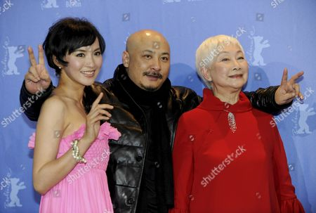 Stock Photo of Chinese Actress Monica Mo (l-r) Director Wang Quan'an and Actress Lisa Lu Attend the Photocall For the Movie 'Tuan Yuan' ('apart Together') Which Will Open the 60th Berlinale International Film Festival in Berlin Germany 11 February 2010 the Festival Runs Until 21 February Germany Berlin