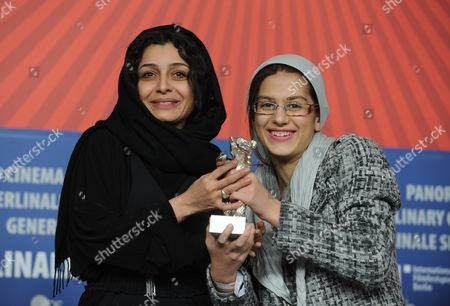 Iranian Actresses Sarina Farhadi (r) and Sareh Bayat Pose with Their 'Silver Bear' Award For Best Actress For Acting in the Film 'Nader and Simin a Separation' ('jodaeiye Nader Az Simin') During the Press Conference After the Closing Ceremony of the 61st Berlin International Film Festival in Berlin Germany 19 February 2011 a Total of 16 Films Were in the Competition Iranian Director Asghar Farhadi's Movie 'Jodaeiye Nader Az Simin' (nader and Simin a Separation) Won the Berlinale's Prestigious 'Golden Bear' For Best Motion Picture Germany Berlin