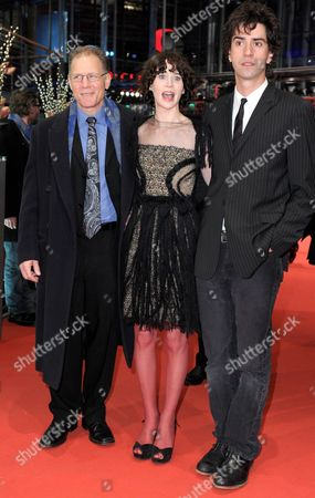 Us Actor Hamish Linklater (r) Us Director Miranda July and Us Actor David Warshofsky Arrive For the Premiere of Their Movie 'The Future' During the 61st Berlin International Film Festival in Berlin Germany 15 February 2011 the Movie is Presented in Competition at the 61st Berlinale Running From 10 to 20 February Germany Berlin