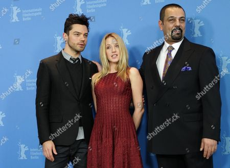 British Actor Dominic Cooper (l) and French Actress Ludivine Sagnier (c) and Iraqi Author Latif Yahia (r) Pose During the Photocall For the Film 'The Devil's Double' During the 61st Berlin International Film Festival in Berlin Germany 11 February 2011 the Film is Presented in the Panorama Section of the International Film Festival the 61st Berlinale Runs From 10 to 20 February 2011 Germany Berlin
