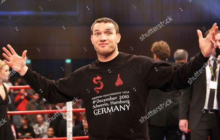 Albert Sosnowski of Poland After Officials Announced That His Ebu European Championship Boxing Fight Against Alexander Dimitrenko of Ukraine was Cancelled in Schwerin Germany on 04 December 2010 Reports State That the Bout was Cancelled when Defending Champion Alexander Dimitrenko Collapsed to the Floor in the Dressing Room Before the Fight Sosnowski the Polish-born Challenger Now Based in Britain Germany Schwerin