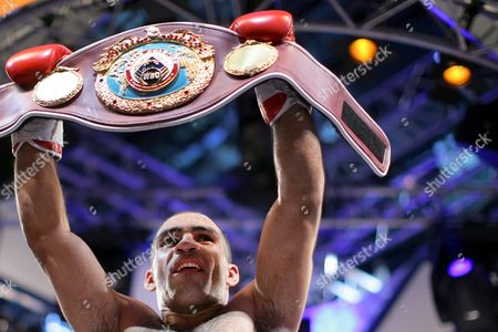 Argentina's Victor Emilio Ramirez Celebrates After He Won the Wbo Interims Cruiserweight World Championship Fight in Duesseldorf Western Germany on 17 January 2009 Ramirez Won the Fight in the 10th Round with Technical Knock out Against Russian's Alexander Alekseev Germany D?sseldorf
