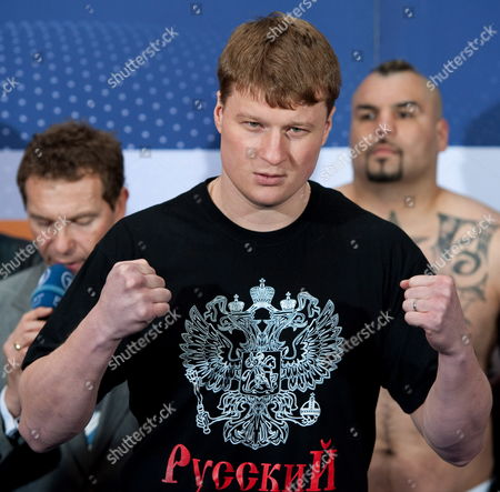 Russian Heavyweight Boxer Alexander Povetkin Poses During the Official Weighing in Berlin Germany 12 March 2010 Povetkin Faces Mexican Javier Mora on 13 March Germany Berlin