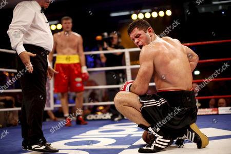 German Heavyweight Boxer Luan Krasniqi (r) Loses His Fight Against Ukranian Alexander Dimitrenko in Duesseldorf Germany 15 November 2008 Dimitrenko Won the Wbo Inter-continental Heavyweight Championship Fight by K O Germany D?sseldorf