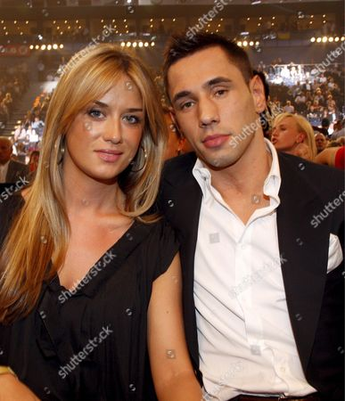 German Boxer Felix Sturm and His Girlfriend Jasmin at Ringside During the Iso Cruiserweight World Championship Bout Between Us Boxer Johnathon Banks and Italian Vincenzo Rossitto at the Colorline Arena in Hamburg Germany 12 July 2008 Later Tonight Ibf and Wbo Heavyweight World Champion Vladimir Klitschko Will Defend His Title Germany Hamburg