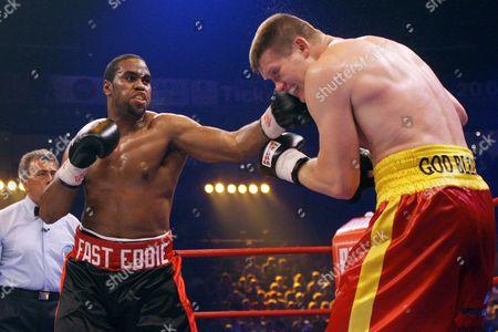 U S Heavyweight Boxer Eddie Chambers Punches Ukrainian Born Alexander Dimitrenko During Their Wbo Eliminator Boxing Match Inhamburg Germany 04 July 2009 Germany Hamburg