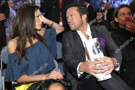 Former German Soccer Player Lothar Matthaeus (r) and Polish Model Joanna Tuczynska Are Pictured Before the Wba Middleweight Title Boxing Fight Between Felix Sturm of Germany and His Irish Challenger Matthew Macklin at the Lanxess Arena in Cologne Germany 25 June 2011 Germany Cologne