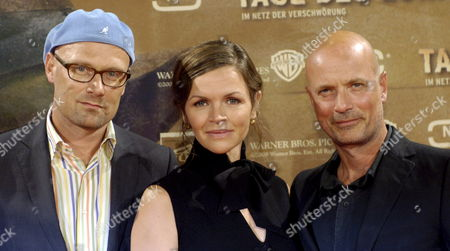 Actors Stine Stengade (c) Christian Berkel and Director Ole Christian Madsen (l) During a Photocall on Occasion of the Premiere of the German-danish Co-production of the Movie 'Tage Des Zorns' (lit : Days of Anger) in Berlin Germany the Film Start in German Cinemas 28 August Germany Berlin