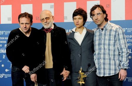 (l-r) Bulgarian Actors Samuel Finzi Itzhak Finzi German Actress Sabine Timoteo and Austrian Actor Helmut Koepping Pictured During the Press Conference on Their Film 'Kill Daddy Good Night' by Austria Director Michael Glawogger at the 59th Berlin International Film Festival in Berlin Germany 08 February 2009 the Film Runs in the Panorama Special Section a Total of 18 Films Compete For the Silver and Golden Bears of the 59th Berlinale Germany Berlin