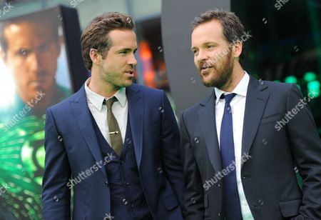 Canadian Actor/cast Member Ryan Reynolds (l) and Us Actor/cast Member Peter Sarsgaard (r) Arrive For the Premiere of 'Green Lantern' in Berlin Germany 25 July 2011 the 3d Movie by New Zealand Director Martin Campbell Opens in German Theatres on 28 July Germany Berlin