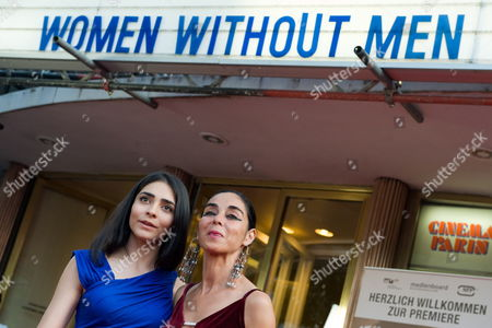 A Picture Made Available on 01 July 2010 Shows Iranian-born German Actress and Cast Member Pegah Ferydoni (l) and Iranian Director Shirin Neshat (r) Attending the Premiere of the Movie 'Women Without Men' in Berlin Germany 30 June 2010 the Movie by Shirin Neshat is Released in Germany on 01 July Germany Berlin