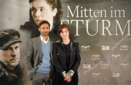 British Actress/cast Member Emily Watson (r) and German Actor/cast Member Benjamin Sadler Attend the Premiere of 'Within the Whirlwind' at the Lichtburg in Essen Germany 04 May 2011 the Movie by Dutch Director Marleen Gorris Opens in German Theatres on 05 May Germany Essen