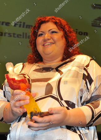 Stock Picture of Hungarian Actress Eva Gabor Receives the Best Actress Award For Her Performance in the Film 'Pal Adrienn' During the Closing Ceremony of the 20th Film Festival Cottbus in Cottbus Germany 07 November 2010 the Prize is Endowed with 5 000 Euros Germany Cottbus