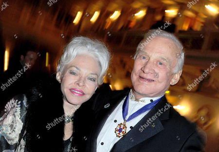 Former Us Astronaut Buzz Aldrin (r) and His Wife Lois Aldrin Arrive For the Charity Event Cinema For Peace in Berlin Germany 14 February 2011 Since 2002 Cinema For Peace Has Been a Worldwide Initiative Promoting Humanity Through Film While Inviting Members of the International Film Community to Attend the Annual Cinema For Peace Award-gala-night During the Berlin International Film Festival Germany Berlin
