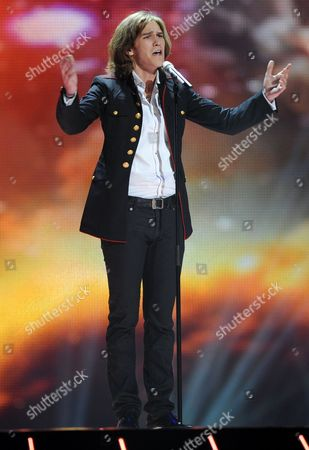 Amaury Vassili Representing France Performs During His First Rehearsal of the Eurovision Song Contest in Duesseldorf Germany 07 May 2011 the Final of the 56th Eurovision Song Contest Takes Place on 14 May Germany Duesseldorf