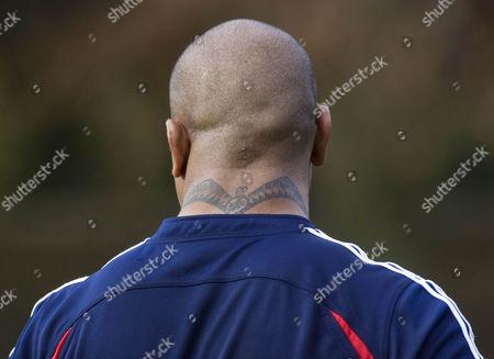 Stock Photo of The formidable neck of New Zealand's Neemia Tialata