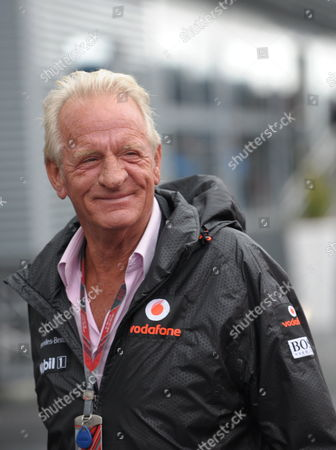 Father of British Formula One Driver Jenson Button of Mclaren Mercedes John Button Seen in the Paddock Prior to the Formula One Grand Prix of Germany at the F1 Race Track of Nuerburgring Nuerburg Germany 24 July 2011 Germany Nuerburg