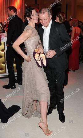 German Actors Joachim Krol (r) and Nina Kunzendorf (l) Attend the 46th Golden Camera Award After-party in Berlin Germany 05 February 2011 the Prize is Awarded in 14 Categories by German Television Magazine Hoerzu Germany Berlin