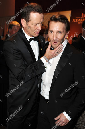 Former German Boxer Henry Maske (l) and German Actor Mark Keller (r) Attend the 46th Golden Camera Award After-party in Berlin Germany 05 February 2011 the Prize is Awarded in 14 Categories by German Television Magazine Hoerzu Germany Berlin