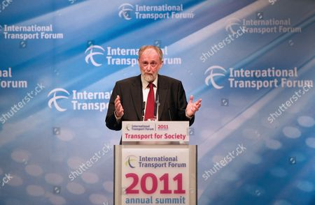 Stock Photo of General Secretary of the International Transport Forum (itf) Jack Short Speaks at the Opening of the Itf in Leipzig Germany 26 May 2011 Traffic Experts From 52 Countries Intend to Gather During the Forum in Leipzig and Discuss Improvements of Current Traffic Conditions Germany Leipzig