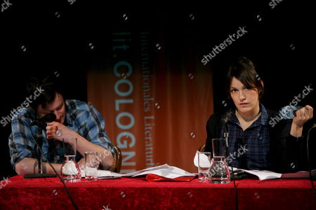 German Actress Nicolette Krebitz Reads with Writer and Musician Willy Vlautin (l) From His Book 'Northline' During the International Literature Festival 'Lit Cologne' in Cologne Germany 13 March 2009 Some 65 000 Visitors Are Expected to Attend the 158 Events of the Festival Running Until 21 March Germany Cologne