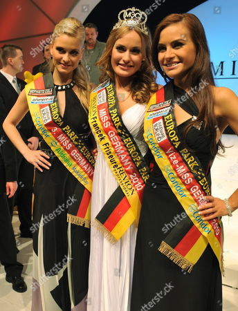 Miss Germany 2010 Anne Julia Hagen From Berlin (c) Poses with Second Placed Miss Baden-wuerttemberg Albana Nocaj (r) From Tettnang and Third Placed Reingard Hagemann (l) From Mecklenburg-vorpommern After the Miss Germany 2010 Beauty Contest at the European Park in Rust Germany 13 February 2010 the 19 Year-old Student From Berlin Won Against 21 Other Competitors From All Over Germany in the Miss Germany 2010 Beauty Contest Germany Rust