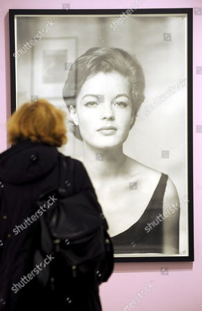 A Visitor Takes a Close Look at the Photography 'Romy Without Cross' (1961) by F C Gundlach at 'Museum Fuer Kunst Und Gewerbe' (museum For Art and Trade) in Hamburg Germany 04 February 2009 the Exhibition 'The Best is Often the Memories - Photographic Portraits of Romy Schneider' Shows More Than 140 Pictures Taken of the Actress the Show Opens on 06 February and Continues to Run Through 13 April Germany Hamburg