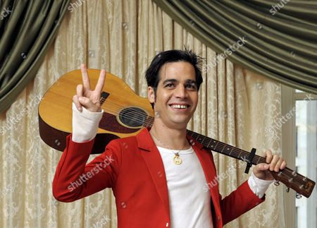 Israeli Singer Aviv Geffen Poses with His Guitar in the Hotel Adlon in Berlin Germany 13 January 2009 Geffen Will Start His Germany Tour in Berlin on 17 January Before Performing in London and Paris at the End of the Month Germany Berlin