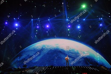 Paradise Oskar Representing Finland Performs on Stage During the First Rehearsal For the Semi-final of the Eurovision Song Contest in Duesseldorf Germany 01 May 2011 out of 43 Countries 25 Will Qualify For the Final Show on 14 May Germany Duesseldorf