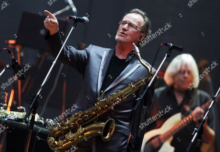 British Saxophonist of the Rock Band Supertramp John Helliwell Performs During a Concert at the Gerry Weber Stadium in Halle Germany 02 September 2010 Supertramp Starts Their European 70-10 Tour in Halle to Celebrate the Release of Their First Album 'Supertramp' Forty Years Ago Germany Halle