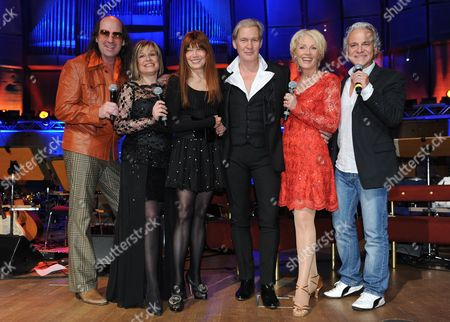 From (l-r): Singers German Guildo Horn German Mary Roos German Katja Ebstein Irish Johnny Logan German Ingrid Peters and German Nino De Angelo Pose For a Photograph During a Rehearsal For a Tv-show As Part of the Eurovision Song Contest in Duesseldorf Germany 10 May 2011 the Show with Former Stars of the Eurovision Song Contest Can Be Seen on Tv-channel Wdr 11 May 2011 Germany Duesseldorf