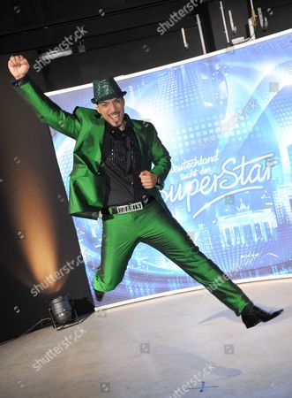 Finalist of the Tv Show 'Germany Searches For the Superstar' Iranian-german Mehrzad Marashi Poses For a Photograph As He Celebrates His Victory in the Final of the Show in Cologne Germany Late 17 April 2010 Marashi Won with the Spetator's Vote Germany K÷ln