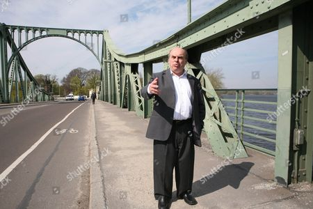Russian Civil Rights Activist Natan Sharansky Stands on the Glienicker Bridge where He was Released From Soviet Imprisonment 25 Years Ago in Potsdam Germany 07 April 2011 After Nine Years of Imprisonment in a Siberian Gulag Sharansky was Set Free After Long-lasting Negotiations Between Us and Soviet Presidents Diplomats and Intelligence Services Since Then He Has Devoted His Life to the Fight For Freedom Germany Potsdam