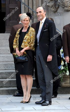 Princess Astrid and Prince Lorenz of Belgium Arrive at the Wedding of Hubertus Michael Hereditary Prince of Saxony-coburg and Gotha and Kelly Jeanne Rondestvedt in Coburg Germany 23 May 2009 Some 400 Guests Many of Which Celebrities and European Aristocrats Attended the Wedding Germany Coburg