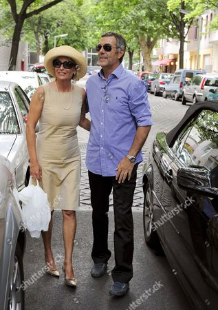 German Journalist and Tv Presenter Sabine Christiansen (l) and Her Partner Norbert Medus Arrive For the Wedding of Celebrity Coiffeur Walz and Thamm in Berlin Germany 26 July 2008 the Couple Celebrated Their Civil Partnership with 35 Guests at a Hotel in Berlin Germany Berlin