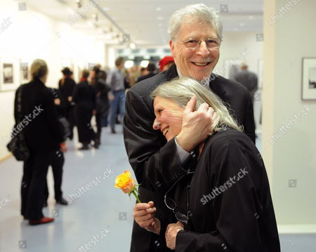 A Picture Dated 06 February 2010 Shows Us Photographer Sylvia Plachy Being Hugged by Her Husband Elhat Brody After Receiving the Erich Salomon Award in Berlin Germany the Award was Bestowed by the 'Gesellschaft Fuer Fotografie' (german Photographic Society) Germany Berlin