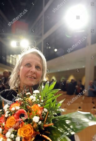 A Picture Dated 06 February 2010 Shows Us Photographer Sylvia Plachy After Receiving the Erich Salomon Award in Berlin Germany the Award was Bestowed by the 'Gesellschaft Fuer Fotografie' (german Photographic Society) Germany Berlin