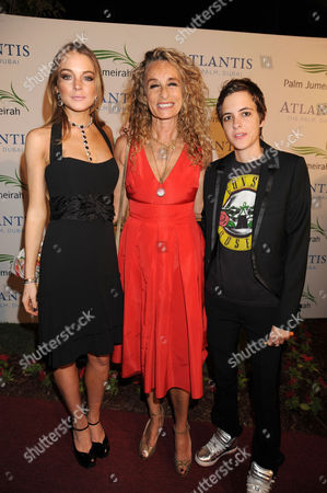 Stock Image of Lindsay Lohan, Anne Dexter-Jones and Samantha Ronson
