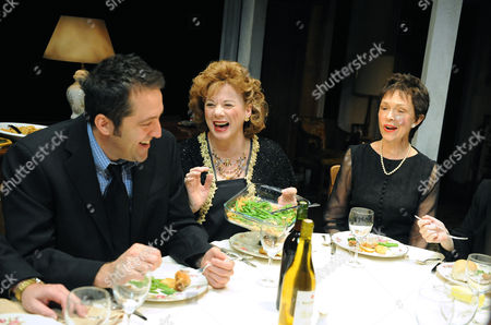 Stock Picture of Ian Barford (Little Charles), Rondi Reed (Mattie) and Deanna Dunagan (Violet)