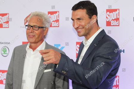 Klitschko's Manager Bernd Boente (l) and Ukrainian Heavyweight Boxer Vladimir Klitschko Pose For Photos As They Arrive For the 'Sport Bild' Awards Ceremony in Hamburg Late 08 August 2011 Europe's Largest Sports Magazin Sport Bild Honors Athletes and People Associated with Sports with the 'Sport Bild' Awards For the 8th Time Germany Hamburg