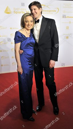 Minister For Family Affairs Kristina Schroeder and Her Husband Paliamentary State Secretary at the Federal Ministry of the Interior Ole Schroeder Arrive For the 41st 'Ball Des Sports'á(sports Ball) in Wiesbaden ágermany 05 February 2011 Under the Motto 'Moving Moments ' Some 1 800 Guests Are to Attend This Year's Ball Germany Wiesbaden