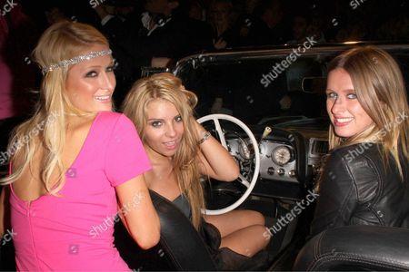 Paris Hilton, Crystal Audigier and Nicky Hilton