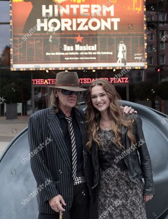 A Picture Made Available on 06 October 2010 Shows Musician Udo Lindenberg and Actress Josephin Busch (r) Posing For a Photograph During the Presentation of the Musical 'Hinterm Horizont' in Berlin Germany 05 October 2010 Busch Will Play the Leading Role in the Musical Which Tells an 'East-west-side-story' Featuring 20 Songs of Lindenberg in an Elaborate Production Rehearsals Are to Start 10 November the Premiere is Scheduled For 13 January 2011 Germany Berlin