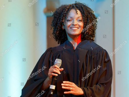 Zodwa Selele Playing the Role of 'Deloris' Sings Two Songs of the Musical Sister Act During the Presentation of the Ensemble in Hamburg Germany 13 October 2010 the Musical Produced by the Hollywood Star Whoopi Goldberg Will Premiere at the Tui Opera House in Hamburg Germany on 02 December 2010 Germany Hamburg