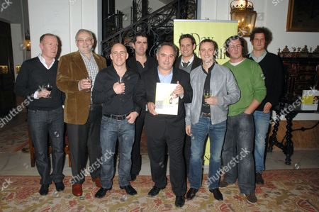 (L to R) Anthony Demitre, Pierre Koffman, Stuart Gillies, Shane Osborn, Ferran Adria, Tristan Welch, Jason Atherton, Claude Bosi, Valentine Warner